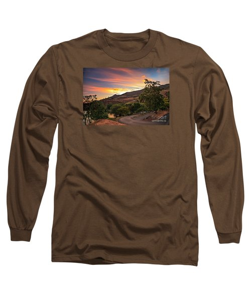 Sunrise At Woodhead Park Long Sleeve T-Shirt by Robert Bales