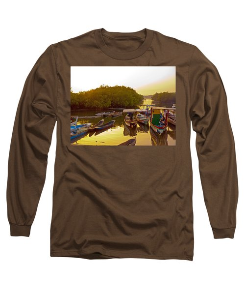 Sunrise Over Gambian Creek Long Sleeve T-Shirt