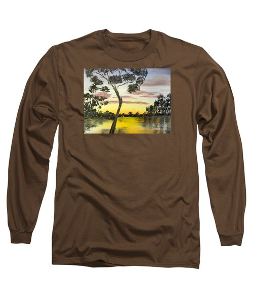 Sunrise Over The Murray River At Lowson South Australia Long Sleeve T-Shirt