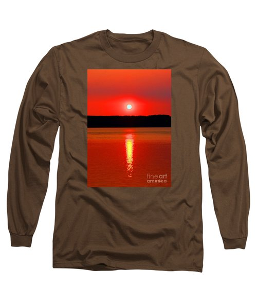 Sunrise Over Whidbey Island Long Sleeve T-Shirt