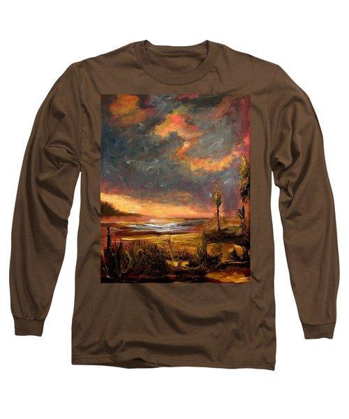 Sunrise With Birds  Long Sleeve T-Shirt