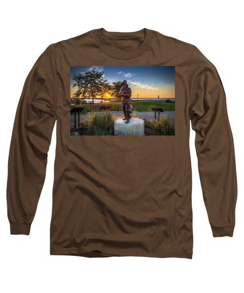 Sunrise With The Fisherman Long Sleeve T-Shirt