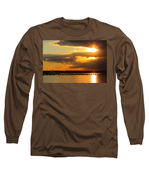 Sunset At National Harbor Long Sleeve T-Shirt