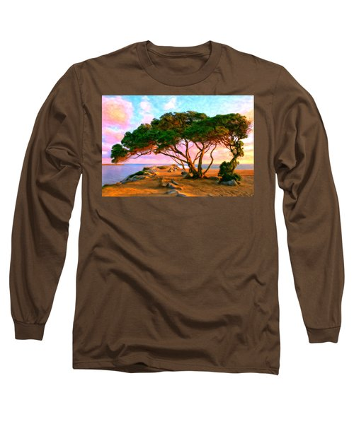 Sunset At The Wedge In Newport Beach Long Sleeve T-Shirt