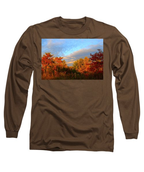 Long Sleeve T-Shirt featuring the photograph Sunset Glow by Kathryn Meyer