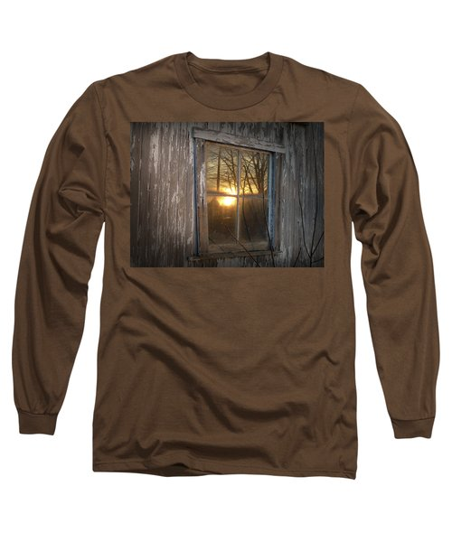 Sunset In Glass Long Sleeve T-Shirt by Cynthia Lassiter