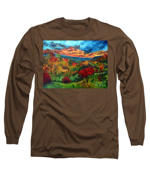 Sunset In Shenandoah Valley Long Sleeve T-Shirt