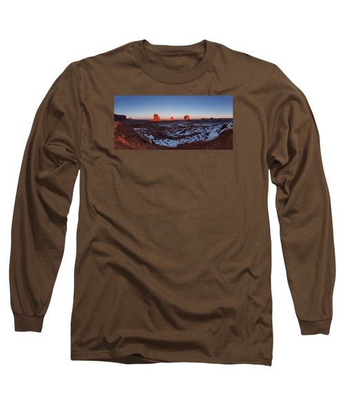 Sunset Moonrise Long Sleeve T-Shirt by Tassanee Angiolillo