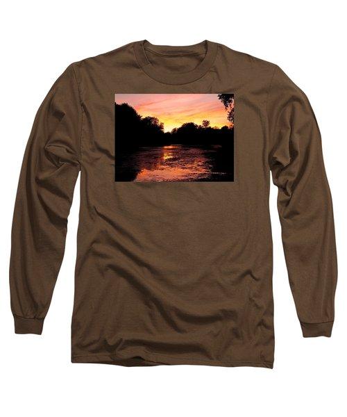 Long Sleeve T-Shirt featuring the photograph Sunset Near Rosemere - Qc by Juergen Weiss