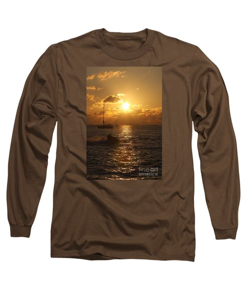 Long Sleeve T-Shirt featuring the photograph Sunset Over Key West by Christiane Schulze Art And Photography