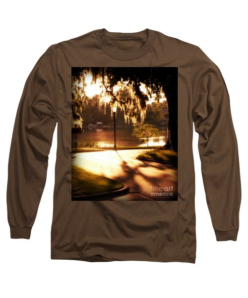 Sunset On Lake Mizell Long Sleeve T-Shirt by Valerie Reeves