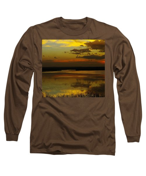 Sunset On Medicine Lake Long Sleeve T-Shirt