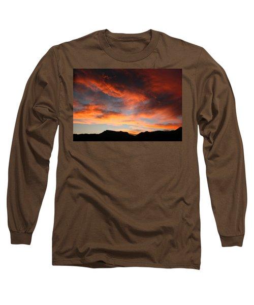 Sunset Over Estes Park Long Sleeve T-Shirt