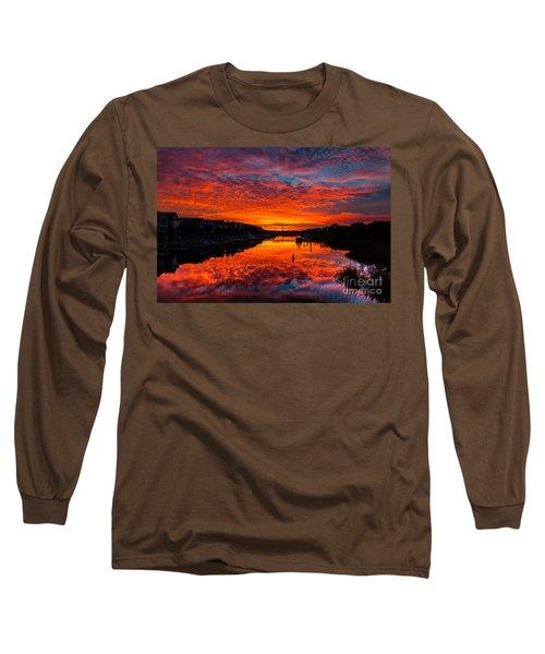 Sunset Over Morgan Creek - Wild Dunes Resort Long Sleeve T-Shirt