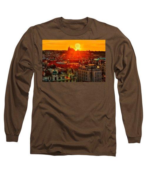 Sunset Over Prague Long Sleeve T-Shirt