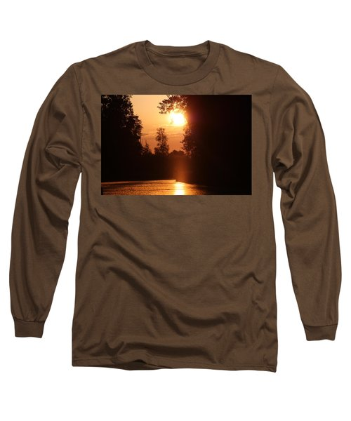 Sunset Over The Canals Long Sleeve T-Shirt by Rogerio Mariani