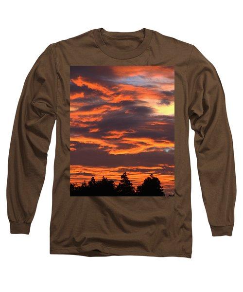 Sunset Long Sleeve T-Shirt by Pamela Walton