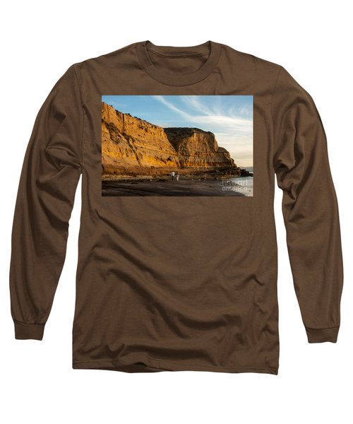 Sunset Walk At Flat Rock  La Jolla California Long Sleeve T-Shirt