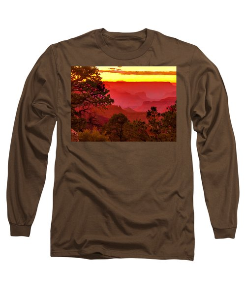 Sunset Yaki Point Grand Canyon Long Sleeve T-Shirt