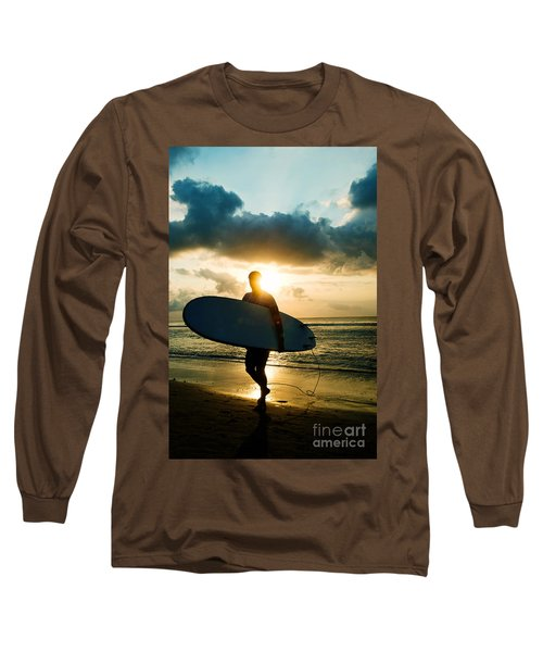 Long Sleeve T-Shirt featuring the photograph Surfer by Yew Kwang