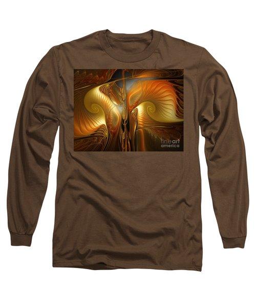 Surrealistic Landscape-fractal Design Long Sleeve T-Shirt