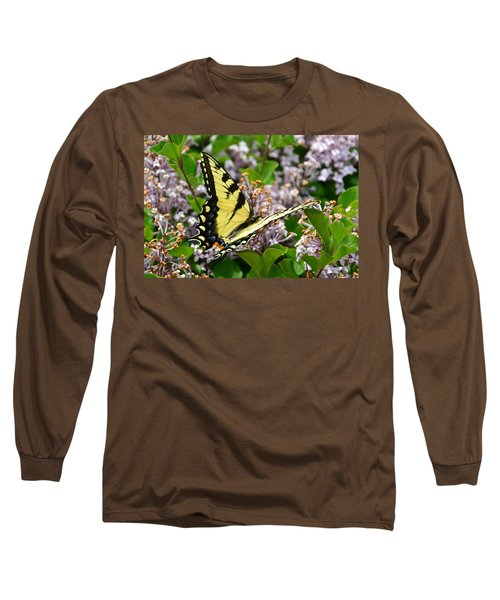 Swallowtail On Lilacs Long Sleeve T-Shirt