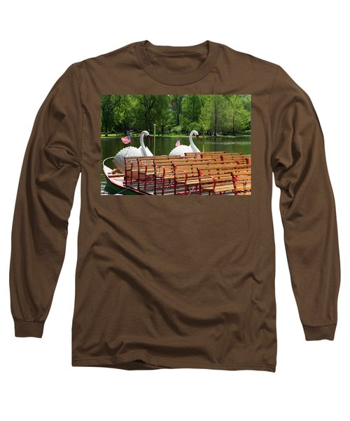 Swan Boats In Boston Long Sleeve T-Shirt