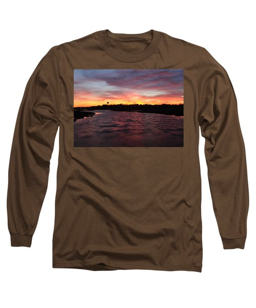 Swan River Sunset Long Sleeve T-Shirt