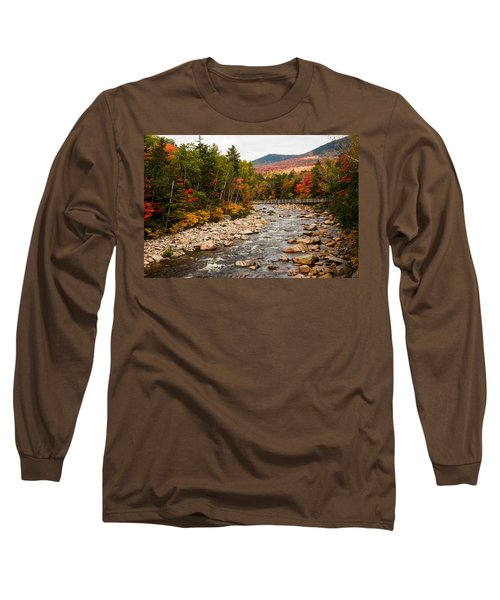 Swift River Painted With Autumns Paint Brush Long Sleeve T-Shirt