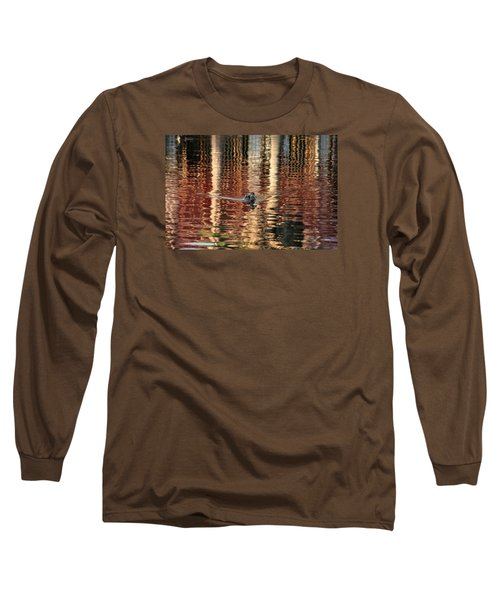 Swimming Over Reflections Long Sleeve T-Shirt by Goyo Ambrosio