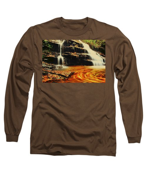 Swirling Leaves Long Sleeve T-Shirt by Rodney Lee Williams