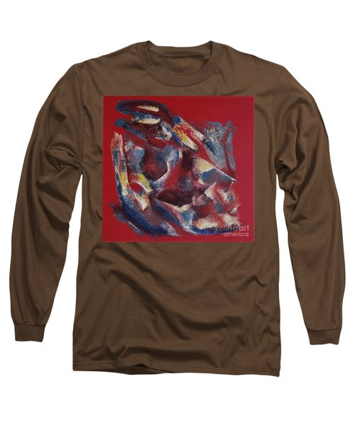 Long Sleeve T-Shirt featuring the painting Syncopation by Mini Arora