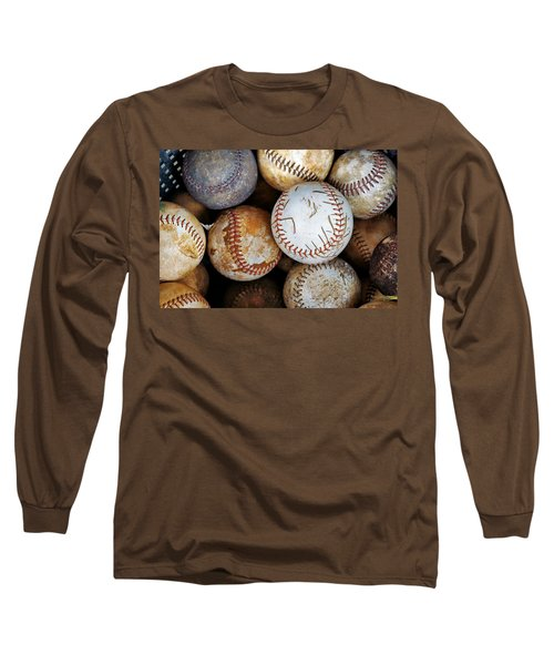Long Sleeve T-Shirt featuring the photograph Take Me Out To The Ball Game by Jean Goodwin Brooks