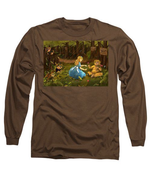Long Sleeve T-Shirt featuring the painting Tammy And The Baby Hoargg by Reynold Jay