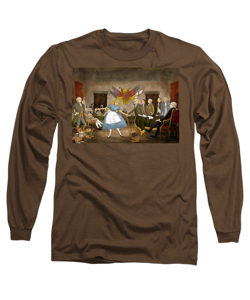 Long Sleeve T-Shirt featuring the painting Tammy In Independence Hall by Reynold Jay