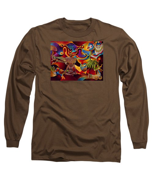 Tapestry Of Gods - Huehueteotl Long Sleeve T-Shirt