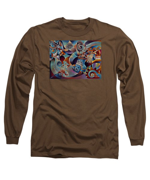 Tapestry Of Gods - Tlaloc Long Sleeve T-Shirt