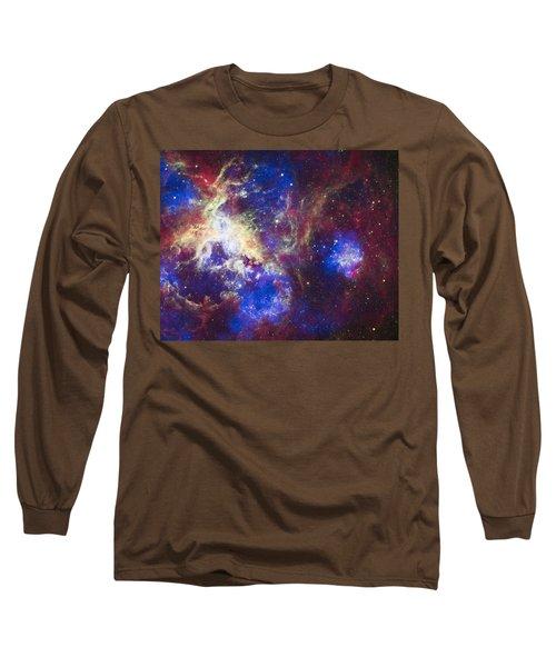 Tarantula Nebula Long Sleeve T-Shirt by Adam Romanowicz