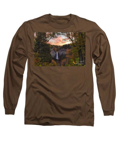 Taughannock Falls Autumn Sunset Long Sleeve T-Shirt