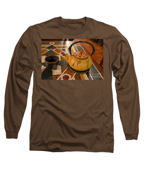 Long Sleeve T-Shirt featuring the photograph Tea Time In Asia by Robert Meanor