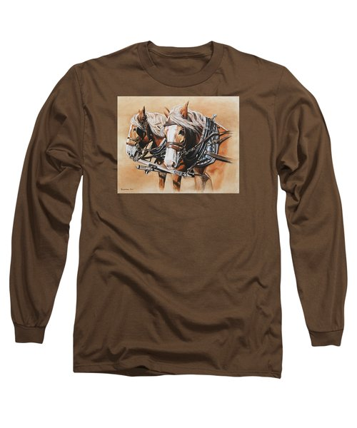 Ted And Tom Long Sleeve T-Shirt by Kim Lockman