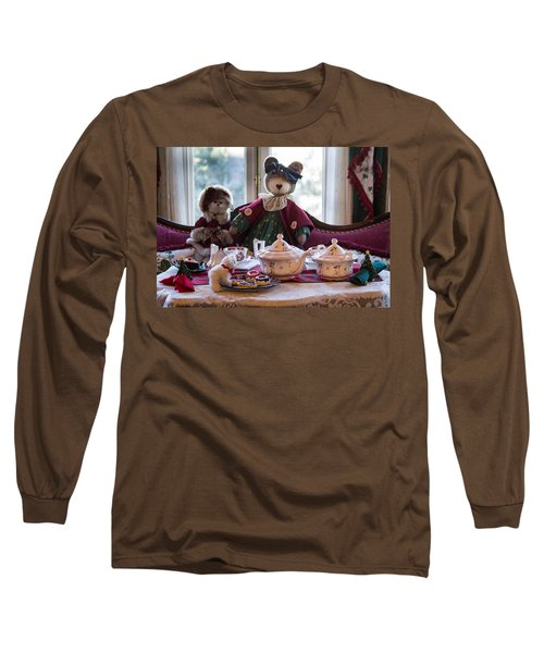 Long Sleeve T-Shirt featuring the photograph Teddy Bear Tea Party by Patricia Babbitt