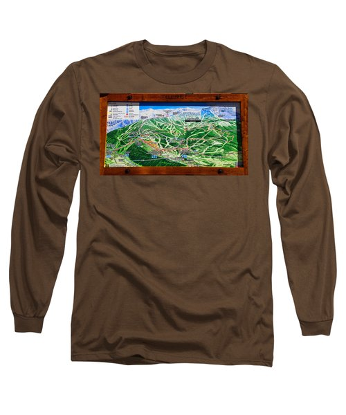 Telluride Ski Map Detail  Long Sleeve T-Shirt