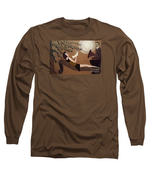Tesla And White Dove Long Sleeve T-Shirt by Jasna Gopic