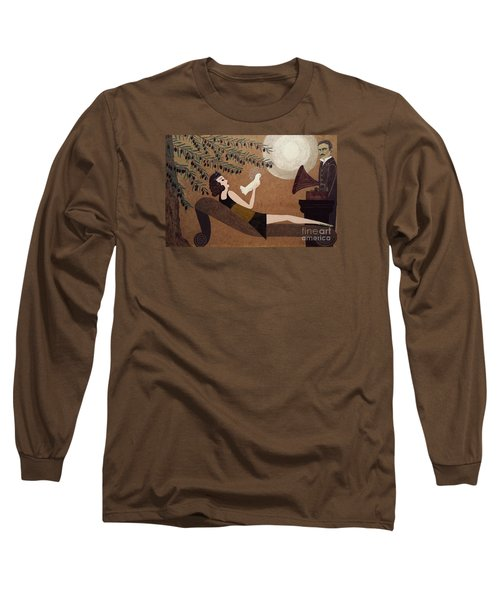 Tesla And White Dove Long Sleeve T-Shirt