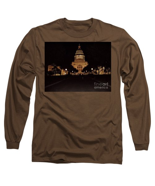 Long Sleeve T-Shirt featuring the photograph Texas State Capital by John Telfer
