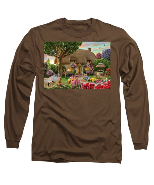 Thatched Cottage Long Sleeve T-Shirt by Adrian Chesterman