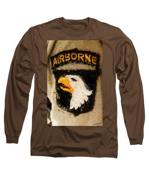 The 101st Airborne Emblem Painting Long Sleeve T-Shirt