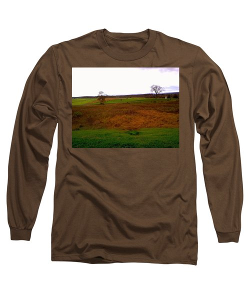 Long Sleeve T-Shirt featuring the photograph The Battlefield Of Gettysburg by Amazing Photographs AKA Christian Wilson