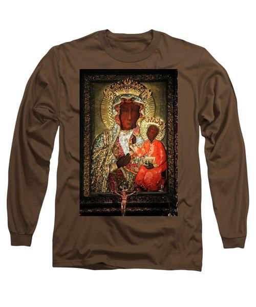 The Black Madonna Long Sleeve T-Shirt by Mariola Bitner